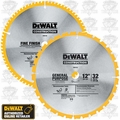 "DeWalt DW3128P5 12"" Carbide Miter Saw Blade 2-Pack"