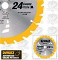 DeWalt DW3178 Thin Kerf Framing Blade
