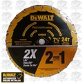 "DeWalt DW3599 7-1/4"" 24T Thin Kerf Framing Saw Blade"