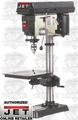 "JET 354165 15"" Bench Mount Drill Press"