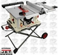 "JET 707000 10"" Jobsite Tablesaw PLUS Retractable Stand"