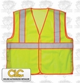 "Custom Leathercraft  5-Point Breakaway Safety Vest ANSI Class 2 ""ALL"""