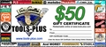 Tools Plus  $50 Gift Certificate
