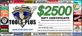 Tools Plus  $2,500 Gift Certificate