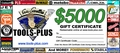 Tools Plus  $5,000 Gift Certificate