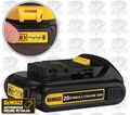 DeWalt DCB201 Lithium Ion Compact Battery Pack w/ Built-in Fuel Gauge