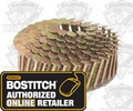 "Bostitch CR19GAL 3/4"" Smooth Shank 15° Coil Roofing Nails"