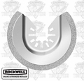 Rockwell RW8926 Diamond Coated Semi-Circle Saw Blade