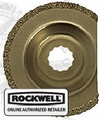 Rockwell RW9125 SoniCrafter Semi-Circle Carbide Grit Wide Profile Blade