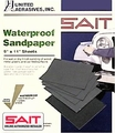 Sait 10034 Waterproof Aluminum-Oxide Sandpaper Sheets