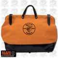 "Klein 5002-18-ORG 18"" Orange Multi-Pocket Canvas Tool Bag"