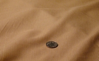 Tan poly cotton blend brown stripe fabric #NV-257