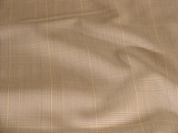 Soft Yellow Lined Check on White/Beige Wool Suiting Fabric #01-WL-286