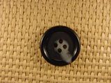 Italian 4 hole Buttons 7/8 inch Black Gray #Bpiece-144