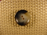Italian 2 hole Buttons 7/8 inch Black Grey #Bpiece-153