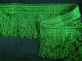 "Italian 4 1/4"" Kelly Green Fancy Chainette Fringe Trim LT-37"