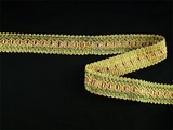 "Italian 1"" Mauve Gold Olive Fancy Braid Trim LT-73"