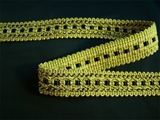 "Italian 1"" Black Olive Green Fancy Braid Trim LT-102"