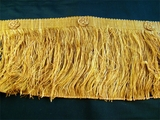 "Italian 5 3/4"" Exclusive Old Gold Fancy Chainette Fringe LT-103"