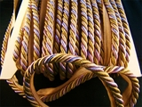 "Italian 3/8"" Lavender Beige Multi Olive Green Twisted Cord with Lip LT-138"