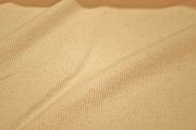 Natural Off White Pure Cotton Ribbed Knit Fabric #NV-626