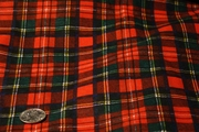 Red Navy Green Yellow White Cotton Plaid Knit Fabric #NV-396