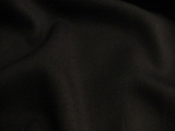 Luxurious Soft Black Wool Twill Fabric # 3F-156