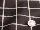 Plaid Print Linen Fabric #K-20
