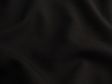 Black Worsted Wool Blend Fabric # 3F-35