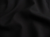 Designer Black Lightweight Wool Fabric # 3F-39