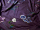 Deep Purple, Dark Blue, Old Gold, Evergreen Floral Printed Soft Knit # K-563