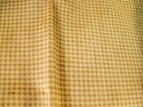 Sandstone Brown Houndstooth Velveteen Fabric #HD-207
