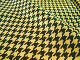 Light Brown Dark Brown Houndstooth Soft Cordoroy Fabric #HD-208