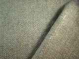 Light Grey with pale blue rose sage Herringbone Suiting Fabric #3F-591