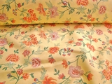 Home Decor Fabric Cotton Floral Cream # UU-8