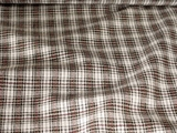 Pure Cotton Plaid Fabric #NV-533