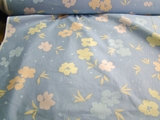 Cotton Chintz Floral Fabric Light Blue # UU-6