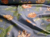 Home Decor Cotton Floral Fabric Blue # UU-4