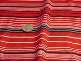 Red White Black Stripes Knit Fabric #UU-2