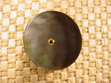 Genuine Mother of Pearl Shank Buttons (1 1/8 inches) Dark Grey #BU-85