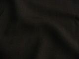 Black Medium weight Soft Wool Twill Fabric # 3F-287