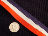 Red Light Grey Navy Striped Knitted Trim #-LT-602