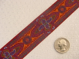 Uniquely Colored Paisley Jacquard Ribbon #WR-51