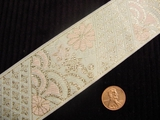Metallic and Pale Floral Jacquard Ribbon #WR-48