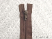"7"" Medium Brown Zipper #ZP-8"