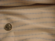 Beige Blue Stripes Designer Stretch Fabric #NV-608