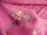 Lovely Pink Grape Soft Silk Beaded Dress Fabric #05-RR-99
