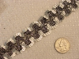 Black & Silver Metallic Sequin Trim #-LT-375