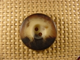 2 holes Italian Buttons 1 1/4 inches Multi Brown #Bpiece-240