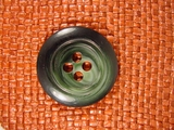 Designer 4 hole Buttons from Italy 1 3/8 inches Forest Green #Bpiece-292